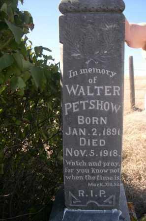 PETSHOW, WALTER - Sheridan County, Nebraska | WALTER PETSHOW - Nebraska Gravestone Photos