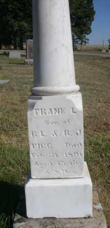 PIGG, FRANK L. - Sheridan County, Nebraska | FRANK L. PIGG - Nebraska Gravestone Photos