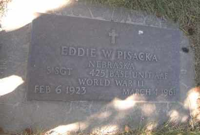 PISACKA, EDDIE W. - Sheridan County, Nebraska | EDDIE W. PISACKA - Nebraska Gravestone Photos