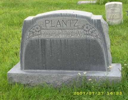 PLANTZ, FRANKLIN C. - Sheridan County, Nebraska | FRANKLIN C. PLANTZ - Nebraska Gravestone Photos