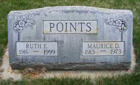 POINTS, MAURICE D. - Sheridan County, Nebraska | MAURICE D. POINTS - Nebraska Gravestone Photos