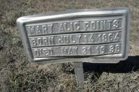 POINTS, MARY ALIC - Sheridan County, Nebraska | MARY ALIC POINTS - Nebraska Gravestone Photos
