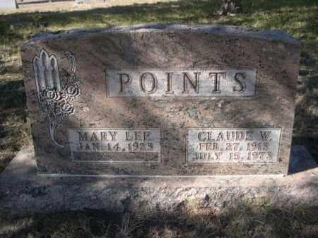 POINTS, CLAUDE W. - Sheridan County, Nebraska | CLAUDE W. POINTS - Nebraska Gravestone Photos