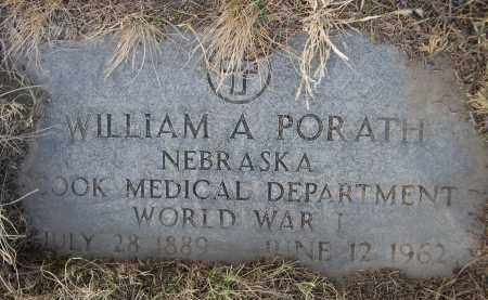 PORATH, WILLIAM A. - Sheridan County, Nebraska | WILLIAM A. PORATH - Nebraska Gravestone Photos