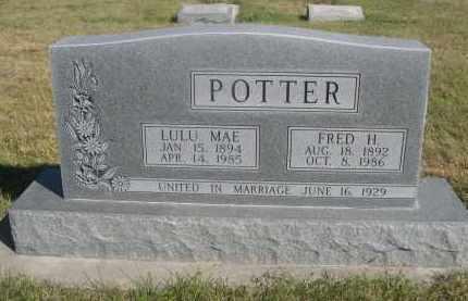 POTTER, LULU MAE - Sheridan County, Nebraska | LULU MAE POTTER - Nebraska Gravestone Photos
