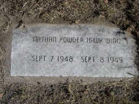 POWDER HAWK WING, NATHAN - Sheridan County, Nebraska   NATHAN POWDER HAWK WING - Nebraska Gravestone Photos