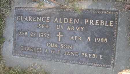 PREBLE, CLARENCE ALDEN - Sheridan County, Nebraska | CLARENCE ALDEN PREBLE - Nebraska Gravestone Photos