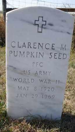PUMPKIN SEED, CLARENCE M. - Sheridan County, Nebraska   CLARENCE M. PUMPKIN SEED - Nebraska Gravestone Photos