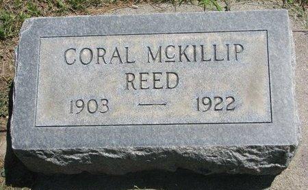 REED, CORAL - Sheridan County, Nebraska   CORAL REED - Nebraska Gravestone Photos