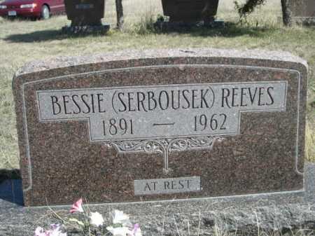 SERBOUSEK REEVES, BESSIE - Sheridan County, Nebraska | BESSIE SERBOUSEK REEVES - Nebraska Gravestone Photos
