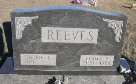 REEVES, LOUISE E. - Sheridan County, Nebraska | LOUISE E. REEVES - Nebraska Gravestone Photos