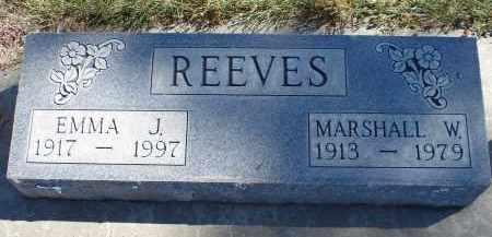 REEVES, MARSHALL W/ - Sheridan County, Nebraska   MARSHALL W/ REEVES - Nebraska Gravestone Photos