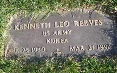 REEVES, KENNETH LEO - Sheridan County, Nebraska | KENNETH LEO REEVES - Nebraska Gravestone Photos