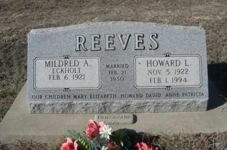 REEVES, HOWARD L. - Sheridan County, Nebraska | HOWARD L. REEVES - Nebraska Gravestone Photos