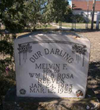 REEVES, MELVIN F. - Sheridan County, Nebraska   MELVIN F. REEVES - Nebraska Gravestone Photos