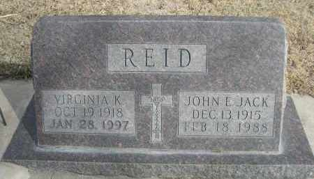 REID, VIRGINIA K. - Sheridan County, Nebraska | VIRGINIA K. REID - Nebraska Gravestone Photos