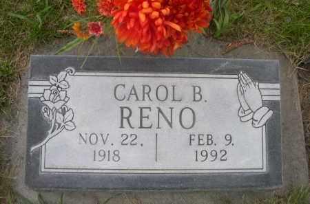 RENO, CAROL B. - Sheridan County, Nebraska | CAROL B. RENO - Nebraska Gravestone Photos