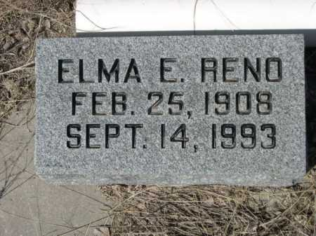 RENO, ELMA E. - Sheridan County, Nebraska   ELMA E. RENO - Nebraska Gravestone Photos