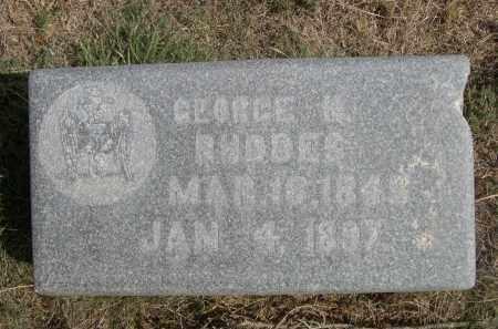 RHODES, GEORGE M - Sheridan County, Nebraska | GEORGE M RHODES - Nebraska Gravestone Photos