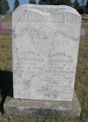 SPENCER RICHARDSON, ELIZA J. - Sheridan County, Nebraska | ELIZA J. SPENCER RICHARDSON - Nebraska Gravestone Photos