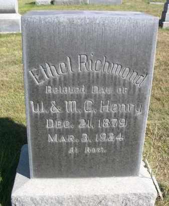 HENRY RICHMOND, ETHEL - Sheridan County, Nebraska   ETHEL HENRY RICHMOND - Nebraska Gravestone Photos