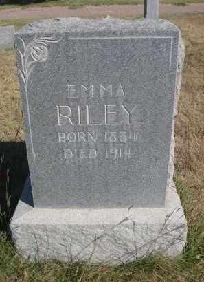 RILEY, EMMA - Sheridan County, Nebraska | EMMA RILEY - Nebraska Gravestone Photos