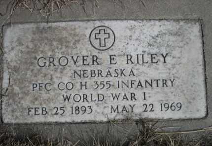 RILEY, GROVER E. - Sheridan County, Nebraska | GROVER E. RILEY - Nebraska Gravestone Photos