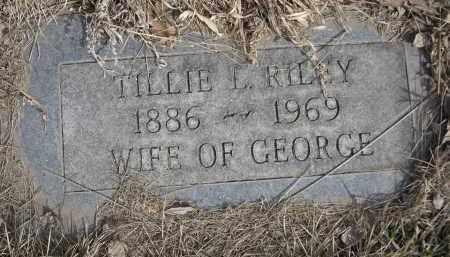 RILEY, TILLIE L. - Sheridan County, Nebraska   TILLIE L. RILEY - Nebraska Gravestone Photos