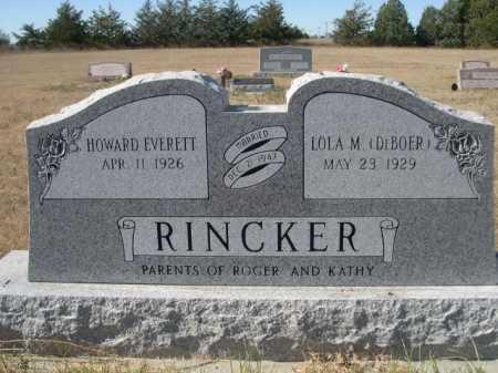 RINCKER, HOWARD EVERETT - Sheridan County, Nebraska | HOWARD EVERETT RINCKER - Nebraska Gravestone Photos