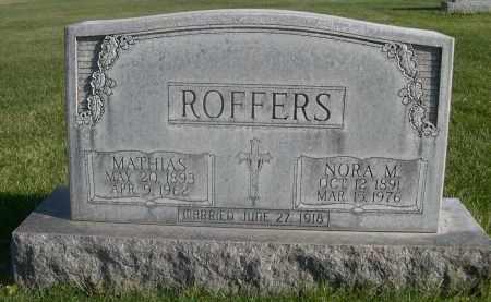 ROFFERS, MATHIAS - Sheridan County, Nebraska | MATHIAS ROFFERS - Nebraska Gravestone Photos