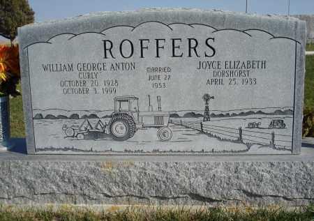 DORSHORST ROFFERS, JOYCE ELIZABETH - Sheridan County, Nebraska | JOYCE ELIZABETH DORSHORST ROFFERS - Nebraska Gravestone Photos