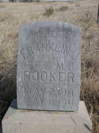 ROOKER, FRANKLIN J. - Sheridan County, Nebraska | FRANKLIN J. ROOKER - Nebraska Gravestone Photos