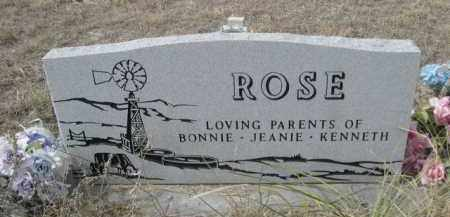 ROSE, WM. F. - Sheridan County, Nebraska | WM. F. ROSE - Nebraska Gravestone Photos
