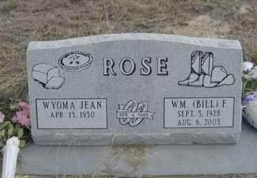 ROSE, WYOMA JEAN - Sheridan County, Nebraska | WYOMA JEAN ROSE - Nebraska Gravestone Photos
