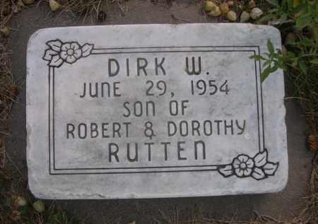 RUTTEN, DIRK W. - Sheridan County, Nebraska | DIRK W. RUTTEN - Nebraska Gravestone Photos