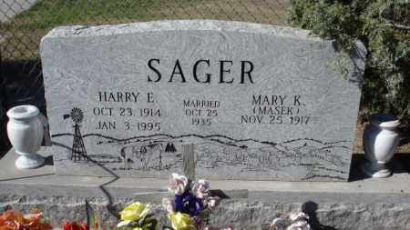 SAGER, HARRY E. - Sheridan County, Nebraska | HARRY E. SAGER - Nebraska Gravestone Photos