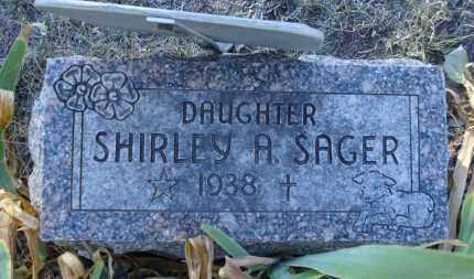 SAGER, SHIRLEY A. - Sheridan County, Nebraska   SHIRLEY A. SAGER - Nebraska Gravestone Photos