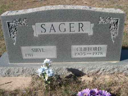 SAGER, CLIFFORD - Sheridan County, Nebraska | CLIFFORD SAGER - Nebraska Gravestone Photos