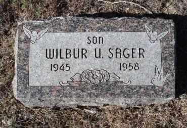 SAGER, WILBUR U. - Sheridan County, Nebraska | WILBUR U. SAGER - Nebraska Gravestone Photos