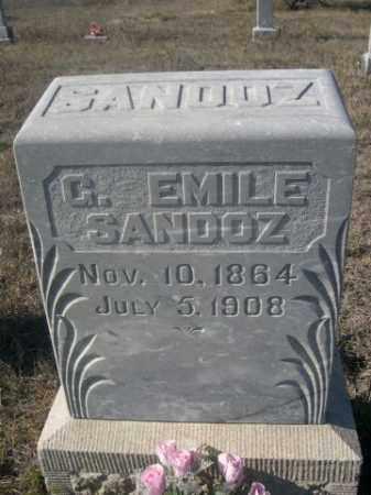 SANDOZ, G. EMILE - Sheridan County, Nebraska   G. EMILE SANDOZ - Nebraska Gravestone Photos