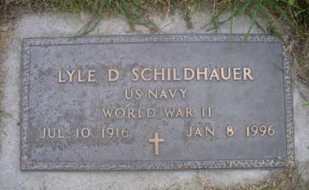 SCHILDHAUER, LYLE D. - Sheridan County, Nebraska   LYLE D. SCHILDHAUER - Nebraska Gravestone Photos