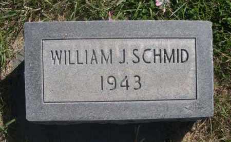 SCHMID, WILLIAM J. - Sheridan County, Nebraska   WILLIAM J. SCHMID - Nebraska Gravestone Photos