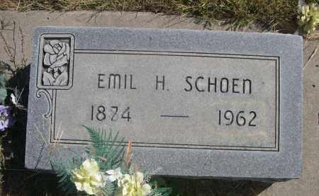 SCHOEN, EMIL H. - Sheridan County, Nebraska | EMIL H. SCHOEN - Nebraska Gravestone Photos