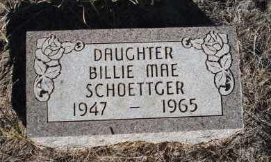 SCHOETTGER, BILLIE MAE - Sheridan County, Nebraska   BILLIE MAE SCHOETTGER - Nebraska Gravestone Photos