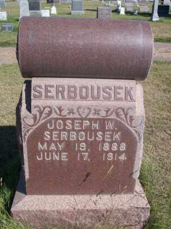 SERBOUSEK, JOSEPH W. - Sheridan County, Nebraska | JOSEPH W. SERBOUSEK - Nebraska Gravestone Photos
