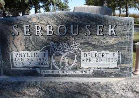 SERBOUSEK, PHYLLIS J. - Sheridan County, Nebraska   PHYLLIS J. SERBOUSEK - Nebraska Gravestone Photos