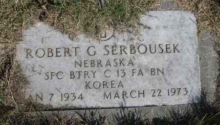 SERBOUSEK, ROBERT G. - Sheridan County, Nebraska   ROBERT G. SERBOUSEK - Nebraska Gravestone Photos