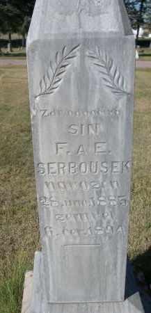 SERBOUSEK, SIN F. AE. - Sheridan County, Nebraska   SIN F. AE. SERBOUSEK - Nebraska Gravestone Photos