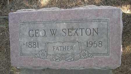 SEXTON, GEO. W. - Sheridan County, Nebraska   GEO. W. SEXTON - Nebraska Gravestone Photos