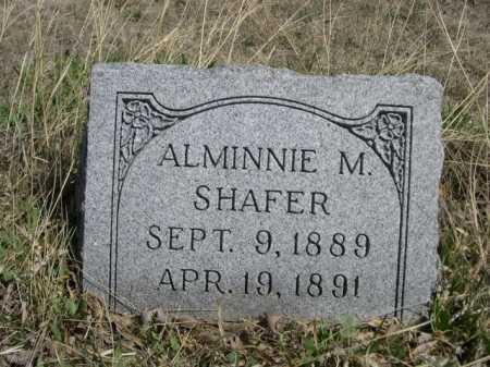 SHAFER, ALMINNIE M. - Sheridan County, Nebraska   ALMINNIE M. SHAFER - Nebraska Gravestone Photos